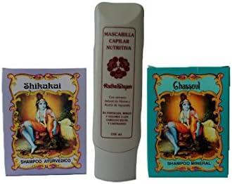 Tratamiento para cabello Pack: Mineral Champú + ayuervedic Champú + Mascarilla de pelo con: Amazon.es: Belleza