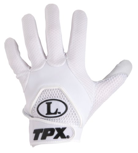 Louisville Slugger TPX Freestyle 1.0 Series Batting Glove Pair (White/White, Small)