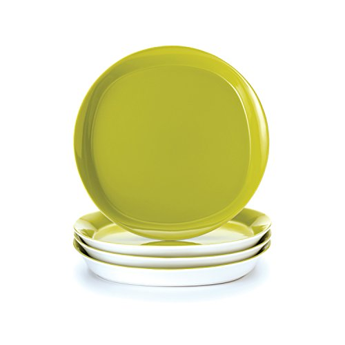 Rachael Ray Round and Square 4-Piece Dinner Plate Set