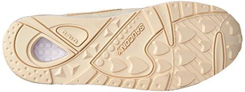 Saucony Cream Grid 9000 Knit Sneaker Cream