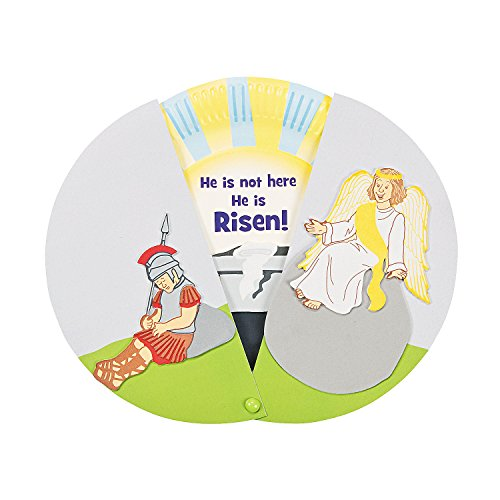 Paper Plate Empty Tomb Reveal Craft Kit-Makes 12