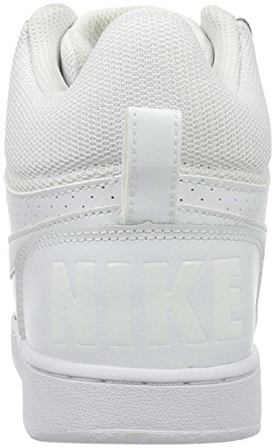Basketball blanco Borough Shoes Mid WMNS blanco Nike Court blanco Blanco Blanco Sxw1FqI