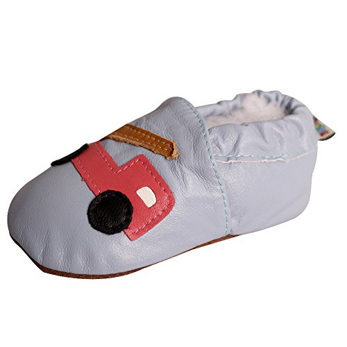 Price comparison product image AMUR LEOPARD Beautiful Soft Leather Baby Crib Shoes - Suede Soles Infant Toddler First Walking Prewalker Breathable 45 Designs