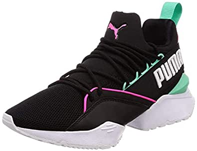 PUMA Womens Muse Maia Mesh Colorblock Sneakers Black 7.5 Medium (B,M)