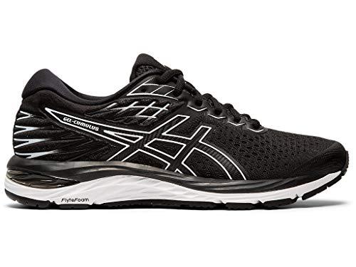- ASICS Women's Gel-Cumulus 21 Running Shoes, 9.5M, Black/White