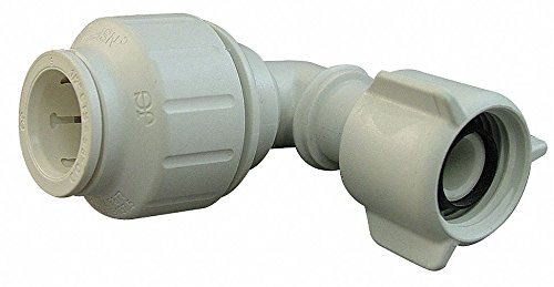 - John Guest PEX Female Swivel Elbow, 90°, 1/2