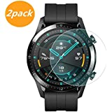 [2-Pack] for Huawei Watch GT2 46mm Screen Protector, Explosion-Proof Anti Scratch Resistance Full Cover Clear Screen…