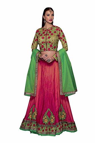 PCC Indian Women Designer Wedding pink Lehenga Choli K-4596-40314