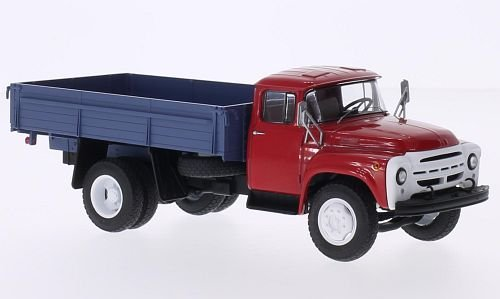 - ZIL 138, red/matt blue, Model Car, Ready-made, start Scale Models 1:43