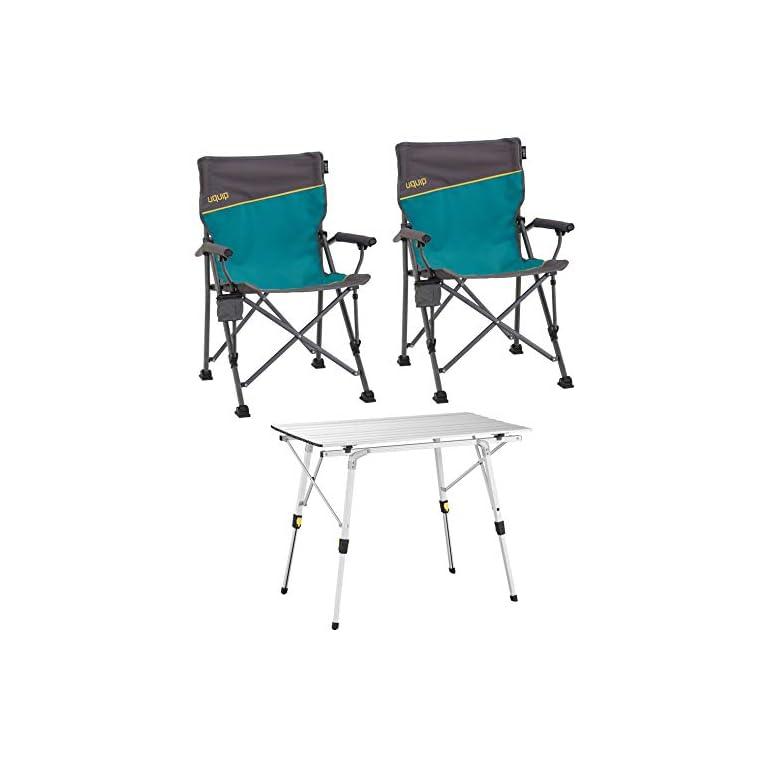 Uquip 'Bloody' Campingmöbel Set 3-TLG. Campinggarnitur mit Falttisch + 2X Campingstuhl