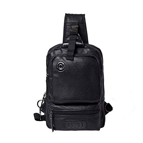 color Shoulder Sport Crossbody Size Travel Daypack Leather For Chest Bag Bag Hiking Casual Moontang Business Men nTW6ZPFP