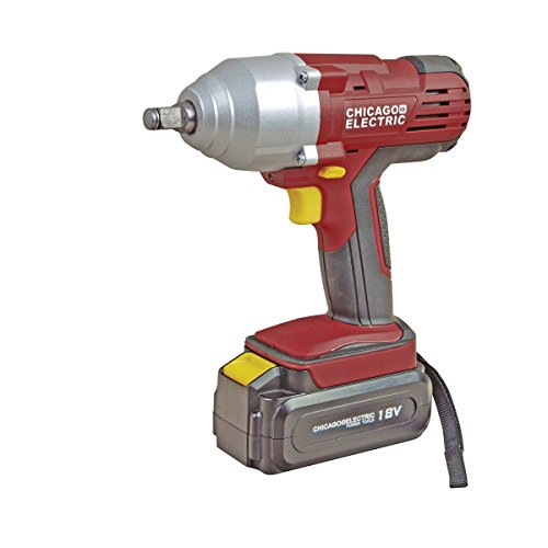 18 Volt 1/2 in. Cordless Variable Speed Impact Wrench -USATM by Chicago Electric Power Tools
