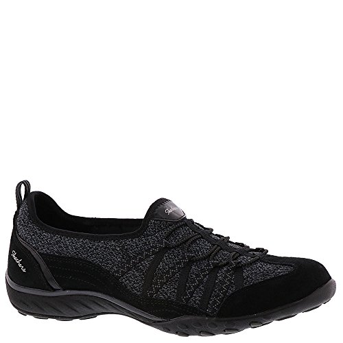 Skechers Sport Womens Breathe-easy Sweet Sound Sneaker Fashion Nero
