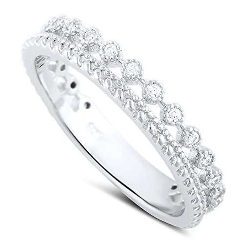 Row Eternity Wedding Band - 4