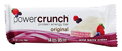 Power Crunch - High Protein Energy Wafer Wild Berry Creme - 1.4 oz. Power Crunch Berry Creme