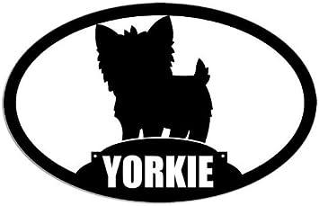 Amazon Com American Vinyl Oval Yorkie Silhouette Dog Breed Sticker Yorkshire Terrier Automotive