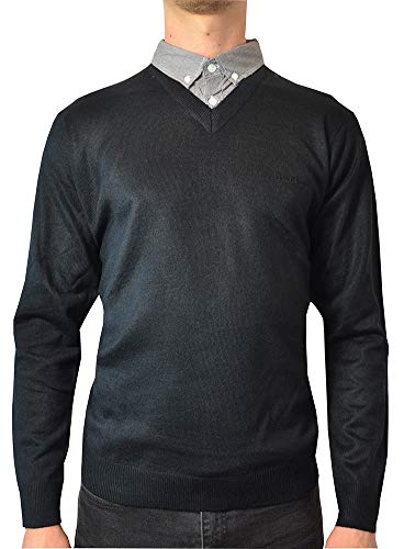 size S M L PIERRE CARDIN Men/'s Navy Blue Soft Knitted Jumper