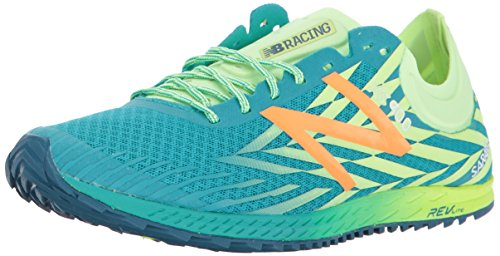 New Balance Women's 900V4 Rubber Spike Track and Field Shoe, Pisces/Bleached Lime Glo, 6 B US
