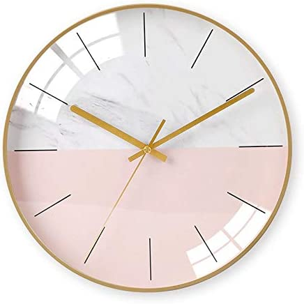 Simple Home Personality Creative Fashion New Atmosphere Free Punch Clock, Gold needle