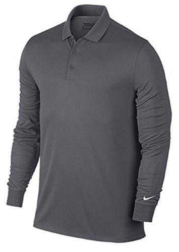 NIKE ナイキ DRI-FIT ビクトリー ゴルフウェア 長袖ポロシャツ Mサイズ(163-175cm) 国内正規品 725515 ダークグレー