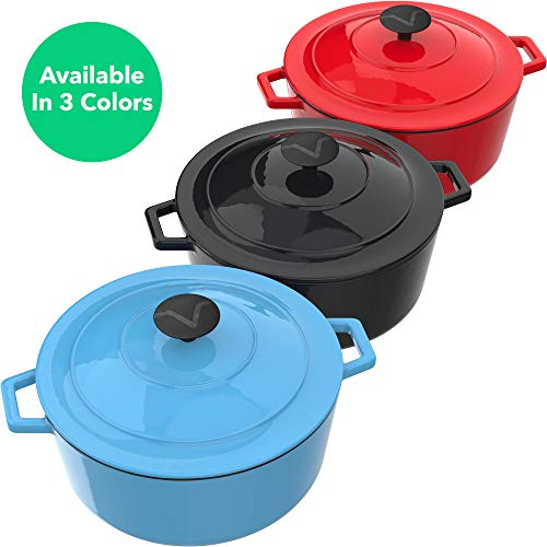 Vremi Dutch Lid - 6 Capacity Preparing and Cooking - Electric Top Compatible Deep Large -
