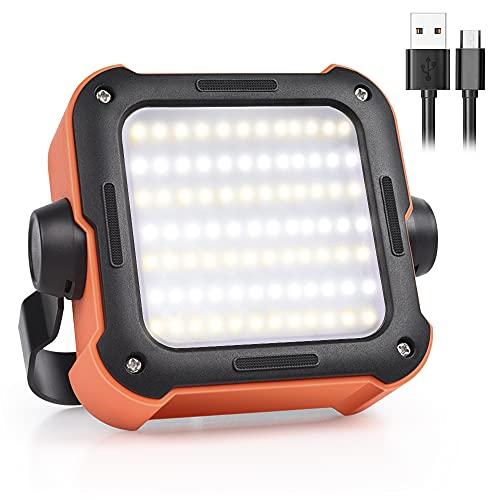 LED Arbeitsleuchte, Campinglampe Led Baustrahler Akku, USB Wiederaufladbare 1000mAh wasserdicht, Tragbar Outdoor…