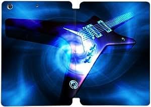 Cubierta de cuero y caja de la PC funda / soporte para funda de Apple iPad Mini 4 funda Con Magnetic reposo automático Función de despertador DIY por Electric Guitar W2O0Hf5P2Nx
