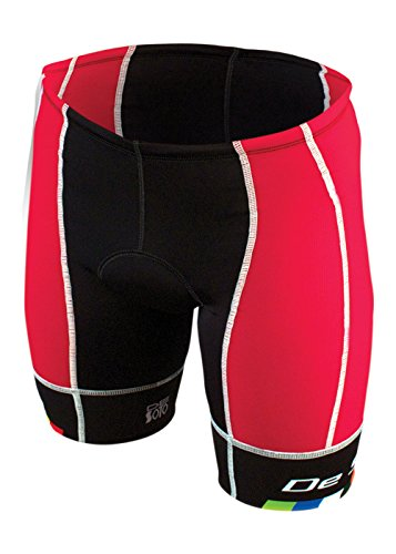 DeSoto Men's Forza Tri Short (Red, - Forza De Soto