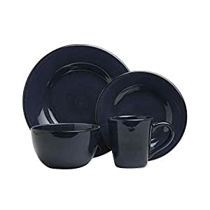 Tag 556111 Sonoma 16-Piece Dinnerware Set, Navy, Service for 4 by Tag