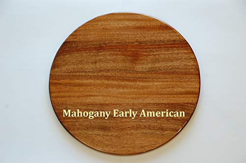 - 22 inch Wooden Lazy Susan Mahogany with Early American stain