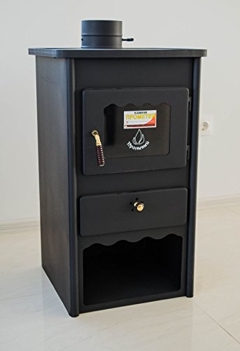 Estufa de leña Metal Board 2 de Prometey; de acero, combustible sólido, 8 kW: Amazon.es: Bricolaje y herramientas