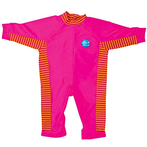 [Splash About UV All-in-One suit (sun protection), pink/mango, 0-3 months] (0-3 Month Swimming Costumes)