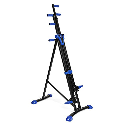 Vertical Mountain Climber Exercise Machine, 2 In 1 Foldable Vertical Stair Step Climber Stepper Exercise Fitness Climbing Machine by Evokem (Image #7)