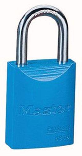 Master Lock 6835BLU Safety Series Padlock, Aluminum Body, 2-inch, Blue