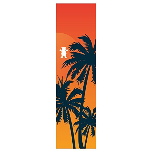 Grizzly Griptape Laguna Cut-Out Griptape - Orange 9''x33'' by Grizzzly