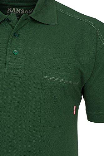 FRISTADS KANSAS Match Poloshirt Polo Herren Polohemd T-Shirt Grün 100780 730