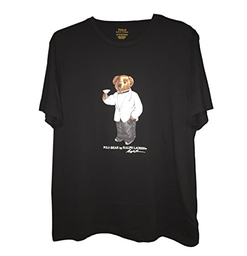 Polo Ralph Lauren Men's Limited Polo Bear T-Shirt, Black/White Tux, - Lauren Colors Polo Ralph