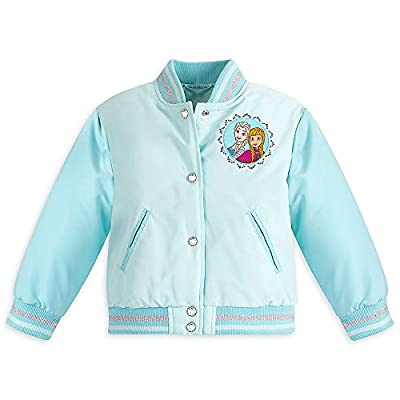 Disney Girls Frozen Varsity Jacket Blue