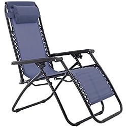 Sunjoy Zero Gravity Chair-Blue