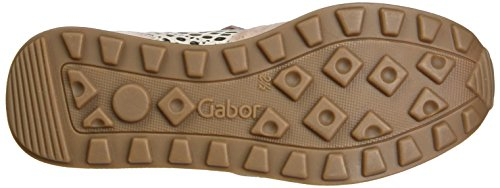 Gabor Damen Comfortabele Sneakers, Grijs Roze (rose / Rame 18)