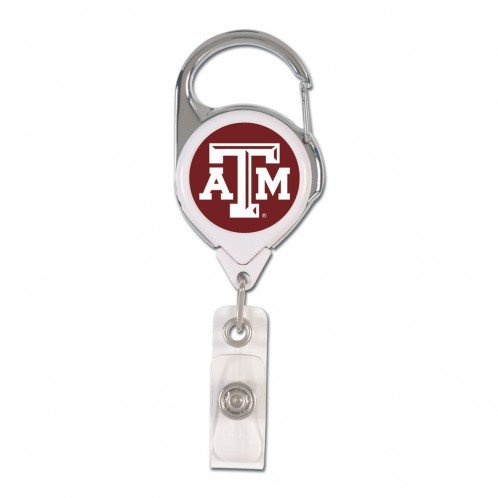 Texas A&m Fan Pull - WinCraft NCAA Texas A&M University 47079011 Retractable 2S Prem Badge Holders