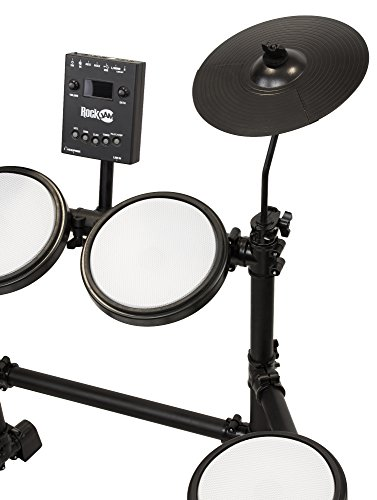 RockJam Mesh Head Kit, Eight Piece Electronic Drum Kit with Mesh Head, Easy Assemble Rack and Drum Module including 30 Kits, USB and Midi connectivity by RockJam (Image #2)