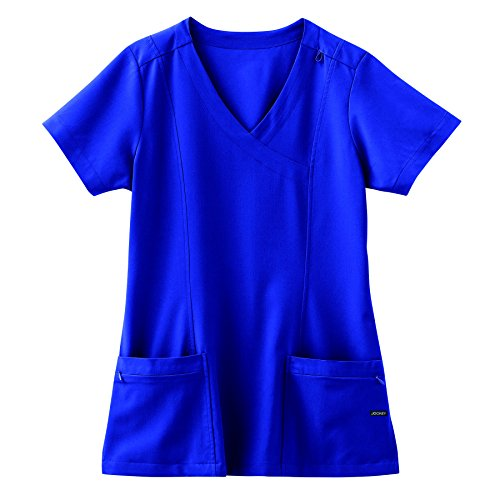 Line Mock Wrap - Jockey Classic 5 Pocket Mock Wrap Scrub Top- Galaxy Blue- Medium
