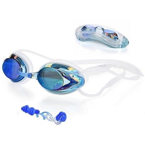a6423a920aef3 Schwimmbrille, LERMX Schwimmbrille mit UV-Schutz / Wasserdicht Komfortable  Passform/Unzerbrechlich/Kristellklare