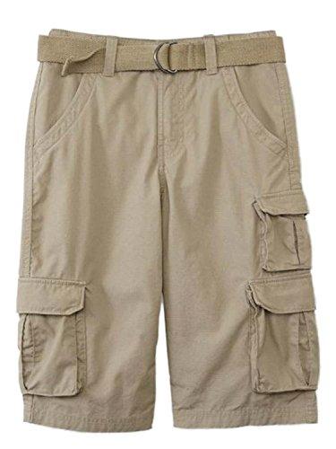 Tan Boys Shorts (Canyon River Blues Boys Khaki Tan Cargo Shorts & Matching Belt 10)