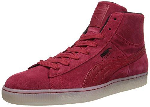 Puma Heren Suede Klassiek En Mid Rebel Mix Sneaker Jester Rood / Zwart