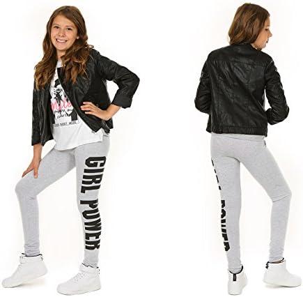Leggings in cotone per ragazze primavera leggings lunghi per bambini Fitness pantaloni bambini Sport Girl Power