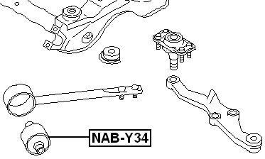 544766P001 Arm Bushing Front Torsion For Nissan Febest