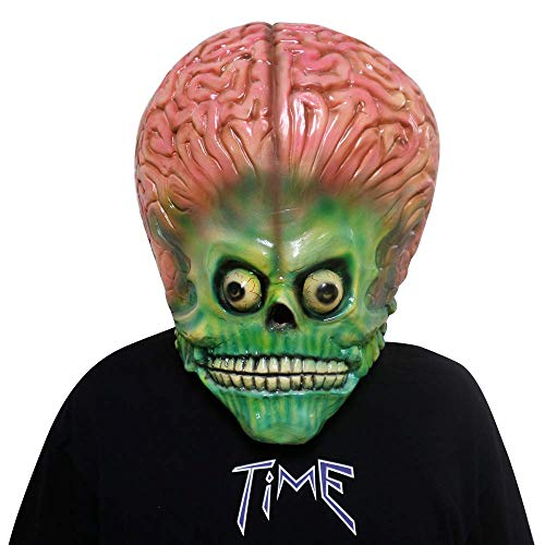 Mars Attacks Soldier Martian Mask Halloween Cosplay Costume Prop (B)