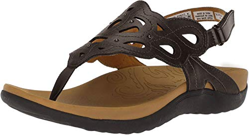 Rockport Women's Ridge Sling Sandal, Bronze, 8 M US